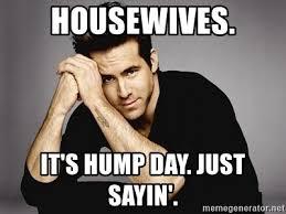 Just Sayin Meme - housewives it s hump day just sayin ryan reynolds tattoo