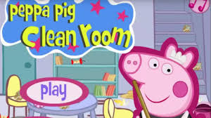 peppa pig game movie play peppa pig clean room best games for
