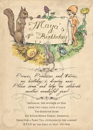 printable birthday invitation 5 x 7 woodland fairy tale