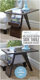 Build A End Table Plans by Remodelaholic Build A Diy Mid Century Modern Side Table And