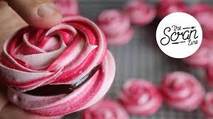rose meringue cookies with chocolate ganache the scran line
