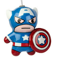 hallmark marvel captain america kawaii decoupage ornament