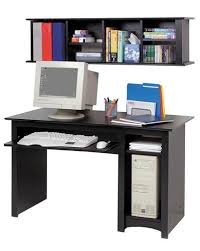 Black Computer Desk With Hutch Compact 48