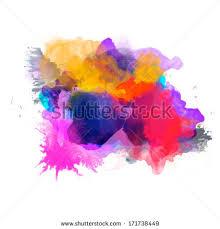 abstract vector watercolor palette blue orange stock vector