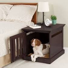 sleek creative dog bed for bedroom with bedside vanity next to bed