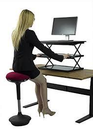 adjustable standing desk conversion move between sitting