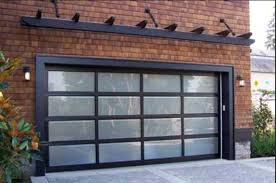 Used Overhead Doors Brick Home Exterior Decoration Ideas With Designing Black Pergola