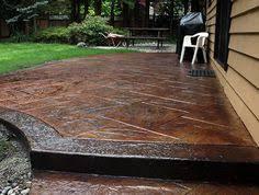 Backyard Stamped Concrete Patio Ideas 17 Best Images About Back Yard On Pinterest Backyards Backyard