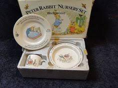 rabbit nursery set by wedgwood wedgwood rabbit 1950s vintage nursery 8 1 4 plate cm6466