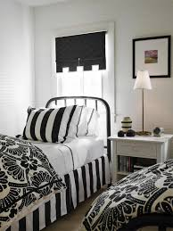 simple white black bedroom design ideas with bed frames and