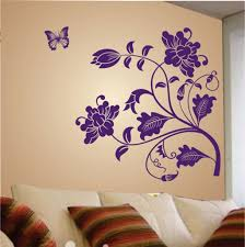 stickers kart vine flower decal designs for walls colored purple