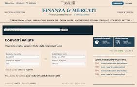 ufficio cambi cambio valuta migliori siti e app per convertire soldi