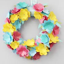flower wreath diy paper flower wreath gathering beauty