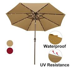 Outdoor Solar Table L Abba Patio 9 Patio Umbrella With Solar Powered 24