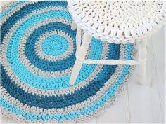 crochet rug round rug nursery rug bath mat by sweetncozy