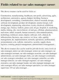 car sales sample resume unforgettable salesperson resume examples