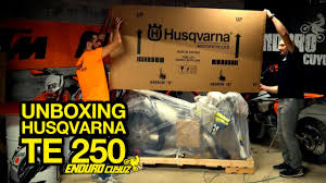 unboxing 2016 husqvarna te 250 youtube