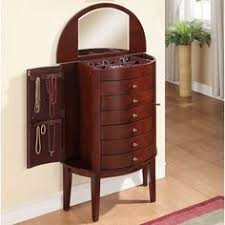 Pier One Mirror Jewelry Armoire This Stunning Jewelry Armoire Has All The Traits Of A