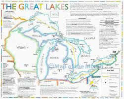 Map For Usa by Great Lakes Map Maps For The Classroom