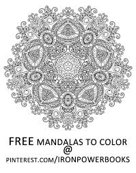 have this free mandala from mandalas to color intricate mandala