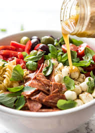 italian pasta salad with homemade italian dressing recipetin eats