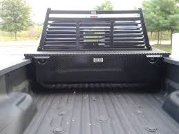 Ford Ranger Truck Tool Box - will a toolbox and headache rack with full rails make my bed