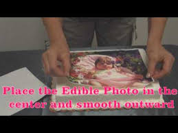 Where To Buy Edible Paper Setup Part 4 Applying Your Photofrost Edible Photo To A Cake