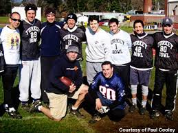 neighborhood football at thanksgiving takes on special