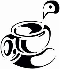 pochoir cuisine tasse de thé ou café en pochoir réutilisable à volonté