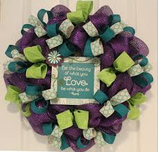 diy purple ribbon wreath of the wreath depot