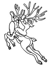 reindeer coloring pages coloringsuite com