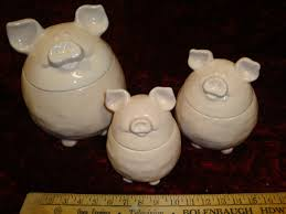 pig kitchen canisters pig inspired canisters miami prop rental