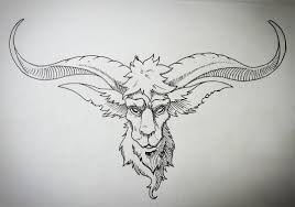 tattoo pen goats goat head inked for a tattoodesign made with copic multiliner