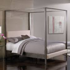 how to make upholstered canopy bed modern wall sconces and bed ideas image of elegant upholstered canopy bed