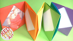 paper photo album easy rainbow origami photo album diy mini photo album diy