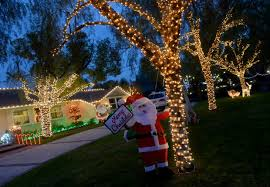 lighting stores in san fernando valley holiday lights still merry and bright on candy cane lane in woodland
