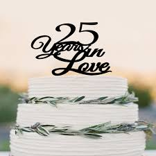 25 cake topper aliexpress buy anniversary cake topper 25 years in