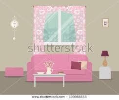 Pink Sofa Com Living Room Pink Sofa Home Cinema Stock Vector 527021182