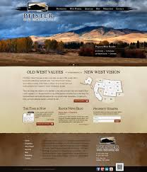 responsive ranch real estate website pfister land company five