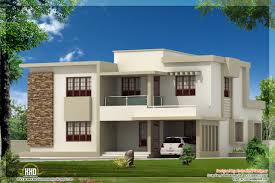 Home Design Story by Contemporary Flat Roof Story House Plan With Deck Remarkable Two