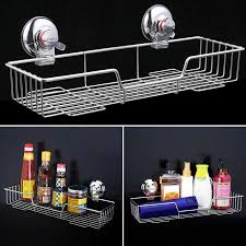Suction Cup Bathroom Shelf Stainless Steel Bathroom Shelf Accessories Suction Cups Vacuum