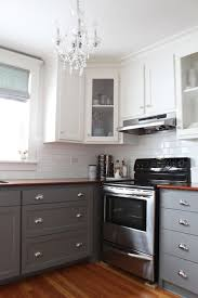 light grey kitchen cabinets with wood countertops gray kitchen cabinets transitional kitchen benjamin