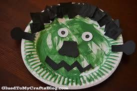 Halloween Crafts Paper Plates by Paper Plate Frankenstein Kid Craft Glued To My Crafts