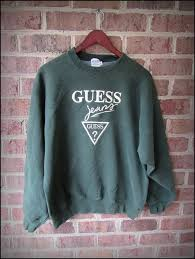 vintage 90 u0027s guess jeans embroidered classic graphic crewneck
