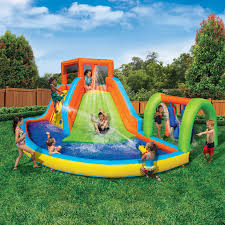 splash inflatable summit adventure pool slide water park banzai ebay