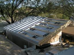 Foil Backed Roof Sheathing by Metal Roof Purlins Or Sheathing