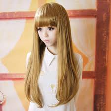 preppy hair women cheap natual realistic wigs neat bangs lolita style perruque peruca