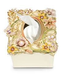 strongwater floral scroll tissue box cover