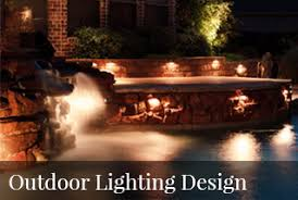 Outdoor Water Features With Lights by Landscape Lighting Grapevine Garden Lights Tx Led Landscape