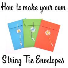 how to make envelopes craft tutorial how to make a string tie envelope six0six